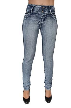 Butt Lift Colombian Style Skinny Leg Jeans by Mitzi Michel MM-M317MBLU (0)