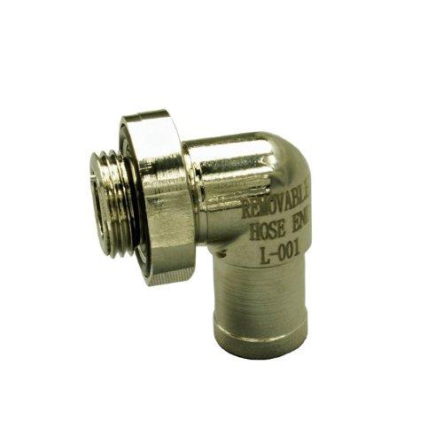 Ez (L-001) Silver Small 90 Degree Hose End