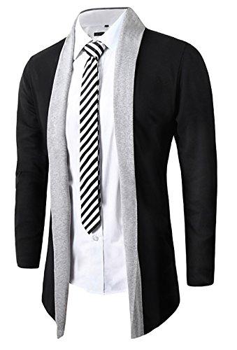 Mada-Mens-Stylish-Contrast-Collar-Wool-Cardigan-Open-Shawl-Sweater