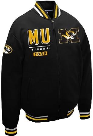 NCAA Missouri Tigers Mens Block Fleece Jacket by MTC Marketing