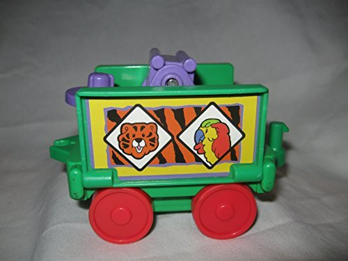 Fisher Price Little People Zoo Train Safari Sonya Lee Animals Replacement Train Car Middle Car Teeder Todder Tiger Animal Decals OOP - 1