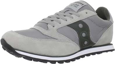 Saucony Originals Men's Jazz Low Pro Running Shoe,Light Grey/Dark Green,7.5 M US