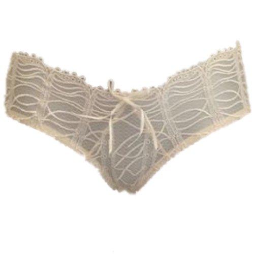 Sale alerts for KEIA KEIA Georgie Ivory Briefs With Ribbon Tie Back-Ivory-8 - Covvet