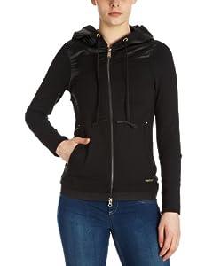 Reebok Women's Cover-up SweatShirt - Black, Medium