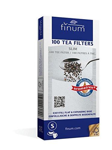 Finum 100 Tea Filters, Slim