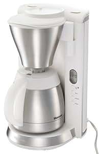 Vitantonio コーヒーメーカー 【真空2層式ステンレスポット採用 / タイマー付き(時計機能付き)】 VCD-10-W
