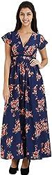 Bhama Couture Women's A-Line Dress (MAR015_XS, Blue, XS)