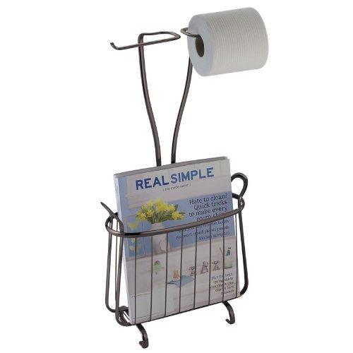 Bathroom Magazine Stand Rack Tissue Holder Dispenser Read Toilet Paper Storage