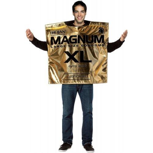 Trojan Magnum Condom Costume Adult Halloween 2011