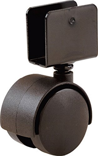Shepherd Hardware 9420 1-5/8-Inch Office Chair Caster Wheel, 11/16-Inch U-Bracket, 40-lb Load Capacity, 2-Pack (Bracket Desk compare prices)