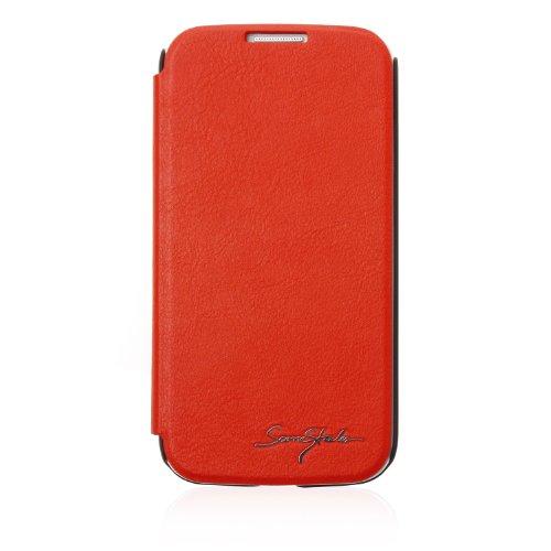 Tridea Italian Card Pocket Flip Case - Samsung Galaxy S4 - Red