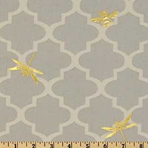 54'' Wide Waverly Buzzing About Silver Lining Fabric By The Yard