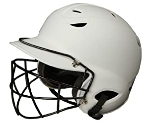Buy Diamond Sports Batting Helmet with Face Guard, Matte White by Diamond Sports