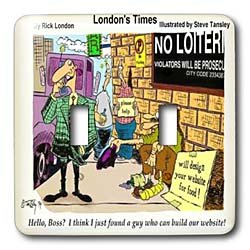Londons Times Funny Music Cartoons - Website Designer Marketing Wares - Light Switch Covers - double toggle switch
