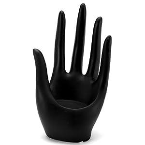 "Darice Hand Form Display 3.25""X6"" Black Polyresin"