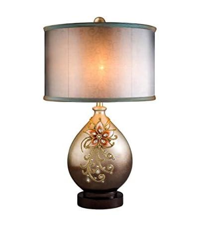 ORE International Sapphire Rose 1-Light Table Lamp, Rose