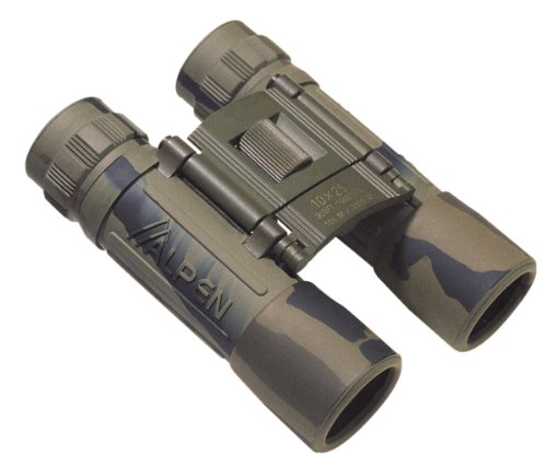 Alpen Optics Sport 10X25 Brown Camo Rubber Armored Compact Binocular