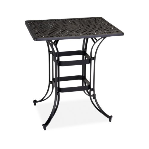 Home Styles Biscayne Space Saving Rectangle Bistro Table, Black