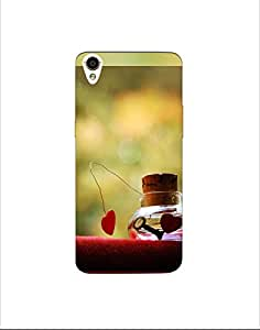 oppo R9 plus ht003 (75) Mobile Case by Mott2 - Love - Heart Key (Limited Time Offers,Please Check the Details Below)