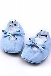 MI DULCE AN'YA blue handmade organic booties/shoes for infants