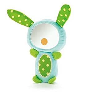 Skip Hop Funky Farmyard Squeak and Rattle Funny Face Bunny Mirror