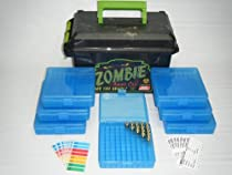 MTM 50 Cal Zombie Ammo Storage Case Kit for 700 Rounds 45 ACP, 10mm Auto, 40 S&W, 41 Action Express, 357 Sig., 44 Auto Mag., 45 Auto Rim, 45 GAP, 38 Casull, 400 Cor-Bon, 8mm Nambu - Includes (1) Model AC50Z 50 Caliber Zombie Edition Ammo Can + (7) Model P100-45-24 Clear Blue 100 Round Ammunition Boxes