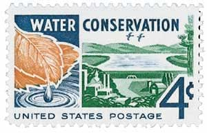 #1150 - 1960 4c Water Conservation Postage Stamp Numbered Plate Block (4)