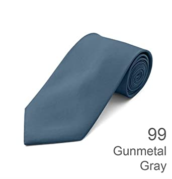 Solid Ties / Multiful color Formal Tie by boxed-gift, Gunmetal Gray