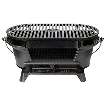 Lodge L410 Pre-Seasoned Sportsmans Charcoal Grill