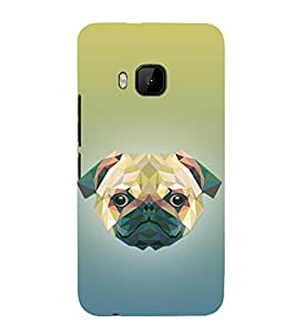 Dog 3D Doggy Puppy 3D Hard Polycarbonate Designer Back Case Cover for HTC One M9 :: HTC M9 :: HTC One Hima