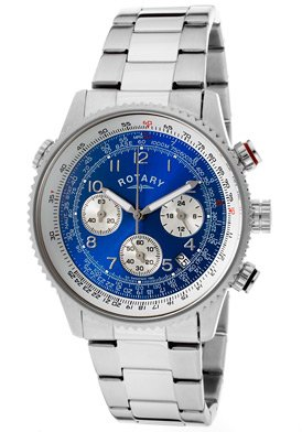 Rotary Gents Chronograph Stainless Steel Bracelet Watch INDE5