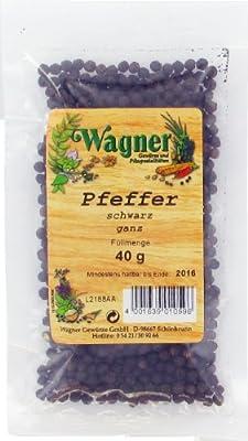 Wagner Gewürze Pfeffer schwarz ganz, 5er Pack (5 x 40 g) von Wagner Gewürze - Gewürze Shop