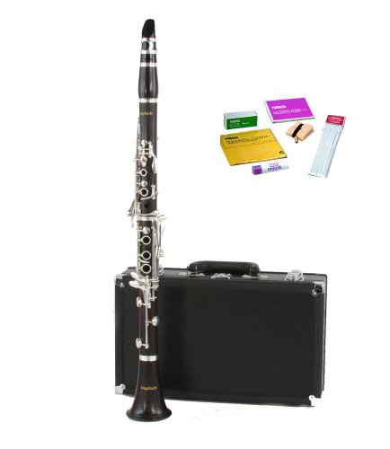 Legacy CL750EW Intermediate Clarinet, Genuine Ebony w Sterling Silver Plated Keys, Accessories, 1 Year Warranty and Yamaha Care Kit