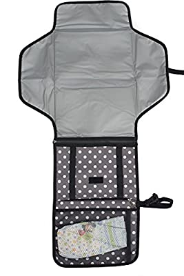 Oak & Navy Portable Diaper Changing Kit Station With Pad & Clutch | Detachable Mat Washable Lining & Head Cushion | Unisex