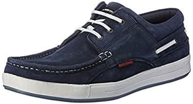 Red Chief Men's RC1363A Blue Leather Boat Shoes - 10 UK/India (44.5 EU)(RC1363A 002)