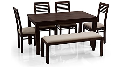 Urban Ladder Arabia FNDNMHWBM001002 Six Seater Dining Table Set (Mahogany)