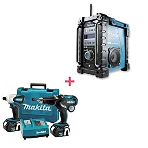 makita lxt202 18v akku 2 er set dk1806 mit makita bmr101 einsatzbericht dab digital radio. Black Bedroom Furniture Sets. Home Design Ideas