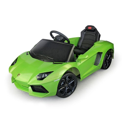Lamborghini Aventador Kids 6V Electric Ride On Toy Car W/ Parent Remote Control - Green