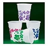 50 Plastic HIBISCUS Drink Cups LUAU PARTY Decor/TROPICAL 16 Oz Beverage