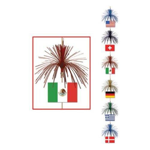 International Flag Firework Stringer Party Accessory (1 count) (1/Pkg)