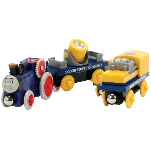 418ltwEHEzL Cheap  Thomas And Friends Wooden Railway   Fergus And The Power Cars