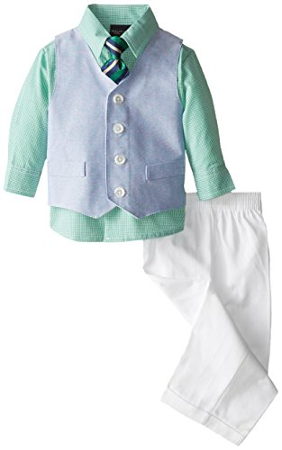 Nautica Baby-Boys Infant Solid Oxford Vest Set