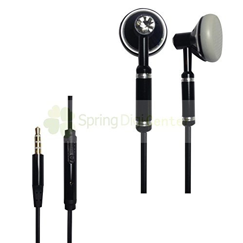 Spring Digi Center The Latest Oem Headphone With Mic For Iphone,Ipad,Samsung Smartphones And Tabs And Other Devices With 3.5 Mm Jack(Black)