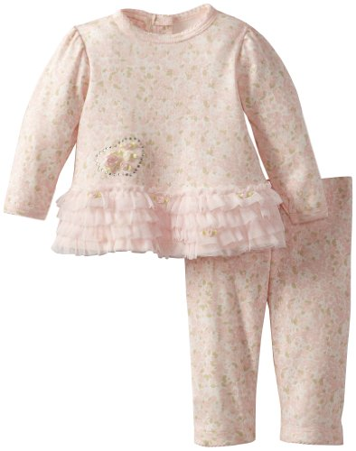 Today Sale Biscotti Baby-Girls Newborn First Love Long Sleeve Top and Pant, Pink, 6 Months  Review
