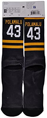 Pittsburgh Steelers Polamalu 43 NFL Socks