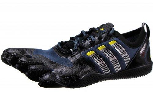 adidas adipure barfuß spitzen trainer 1 schuh - schwarz metallic - silber