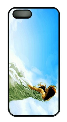 Case For Sale Missing Beats Of Life Alone Girl Blue Sky Art Pc Black Case For Iphone 5/5S