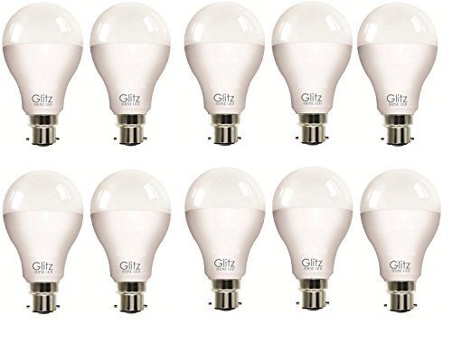 12W B22 90L LED Bulb (Cool White, Pack of 10)