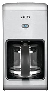 KRUPS KM1010 Prelude 10-Cup Manual Coffee Maker with Stainless Steel Housing, Silver by Krups
