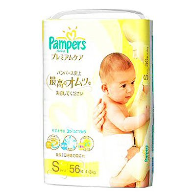 パンパース プレミアムケア Sサイズ 56枚入